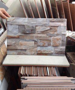 Gạch giả đá ốp tường mặt tiền
