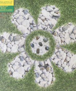 Gạch lát sân vườn hoa văn giả cỏ, bề mặt sần chống trơn