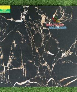 Gạch lát nền 60×60 đá đen vân trắng 66210