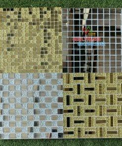Gạch mosaic cao cấp màu vàng nhũ