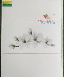 Bộ gạch 30×60 màu trắng họa tiết cánh hoa đẹp