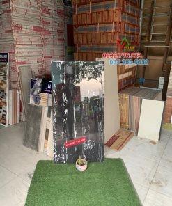 Gạch 60×120 màu đen sọc trắng hàng nhập khẩu Ấn Độ