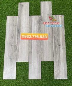 Gạch 15×80 giả gỗ màu xám cao cấp