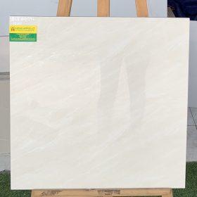 Gạch 60x60 đá bóng kiếng màu trắng sọc