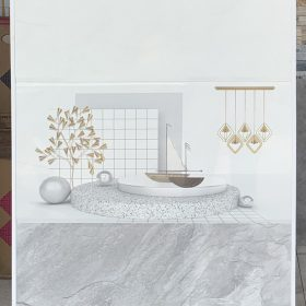 Gạch ốp tường 30x60 màu xám trắng