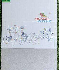 Gạch 30×60 màu xám họa tiết hoa