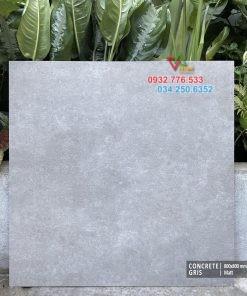 Gạch đá 80×80 màu xám xi măng cao cấp