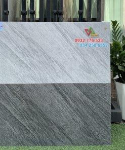 Gạch 40×80 đá mờ sọc đậm ốp tường phong cách