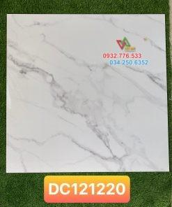 Gạch 120×120 bóng kiếng trắng vân mây