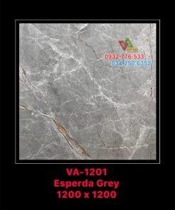 Gạch 120×120 màu xám sọc trắng