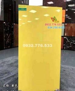 Gạch 60×120 màu vàng trơn bóng siêu sang