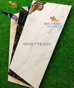 Bộ gạch 60×120 màu trắng sang đẹp