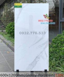 Gạch 60×120 màu trắng ốp nền nhà villa mã 1201