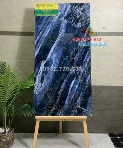 Gạch đá bóng kiếng 60×120 màu xanh dương