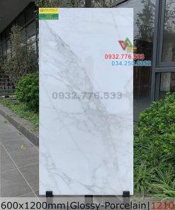 Mẫu gạch 60×120 bóng kiếng ốp phòng ngủ mã 1210